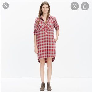 Madewell Flannel Long-sleeve Dress